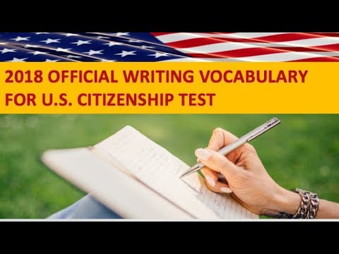 WRITING VOCABULARY FOR THE U.S. CITIZENSHIP TEST