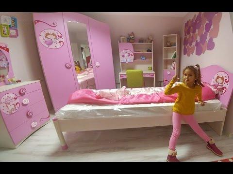 Elife odası için karyola alışverişindeyiz, eğlenceli çocuk videosu