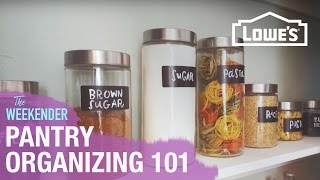 Pantry Organizing 101