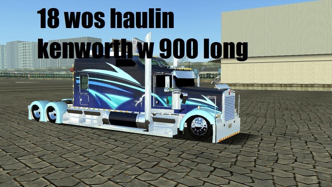 18 wheels of steel haulin kenworth w900 wrecker tow truck