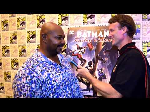 Kevin Michael Richardson (The Floronic Man) interview at Batman and Harley Quinn Premiere at SDCC