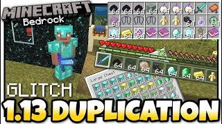 Minecraft Bedrock - 1.13 DUPLICATION GLITCH [ Tutorial ] MCPE / Xbox / PS4  / Windows / Switch