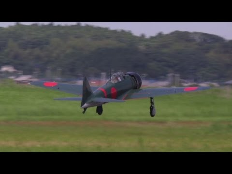 Legendary Zero fighter takes to the skies over Japan