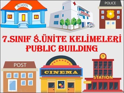 7.Sınıf İngilizce 8.Ünite Kelimeleri Public Buildings