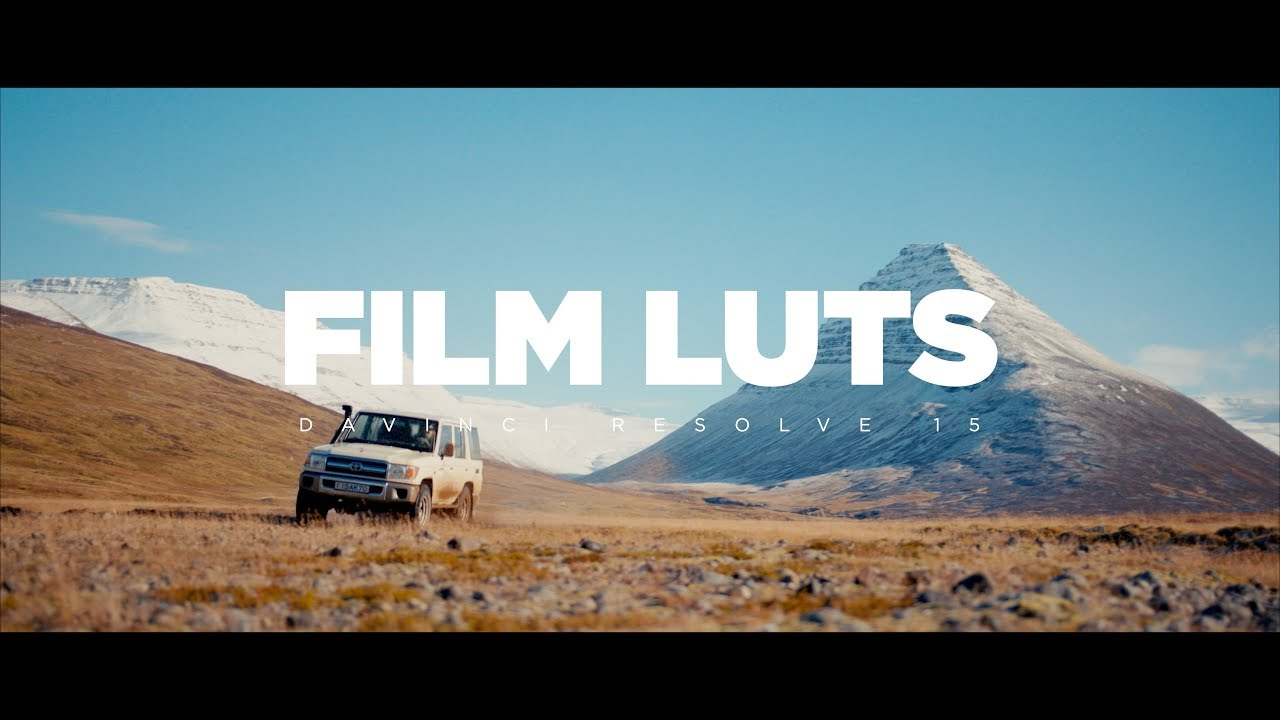 Working with free FILM LUTS in DaVinci Resolve 15! Tutorial
