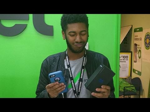 Apple Iphone Fan Reacting To Samsung Galaxy S8 Cricket Wireless