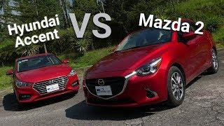 Mazda 2 VS Hyundai Accent - Frente a frente