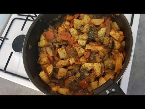 pomme-de-terre-frite-avec-aubergine-trÈs-simple