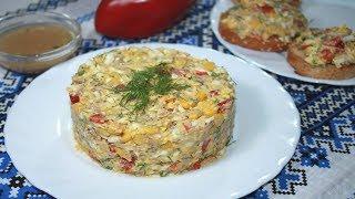 Салат к Празднику и на Каждый День. Готовится просто, съедается быстро
