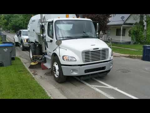 Brown Equipment Co. VT vacuum sweeper demo
