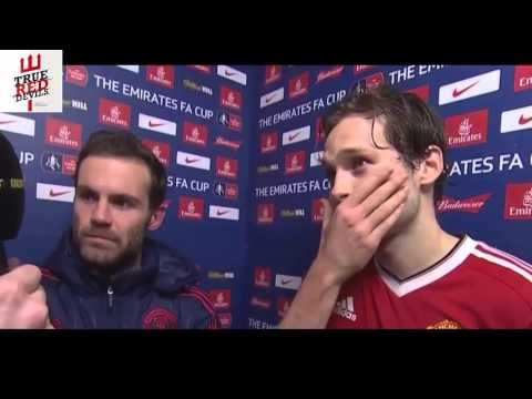 Derby County 1-3 Manchester United; Blind and Mata Interview