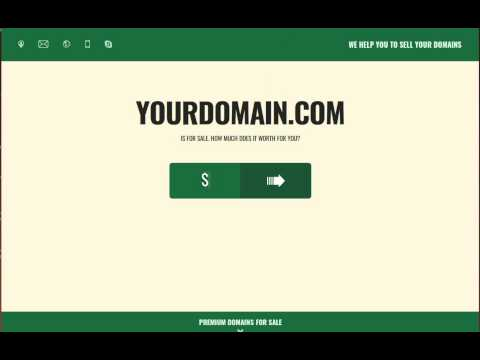 High conversional domain seller template - domain for sale page to sell domain (last chance feature)