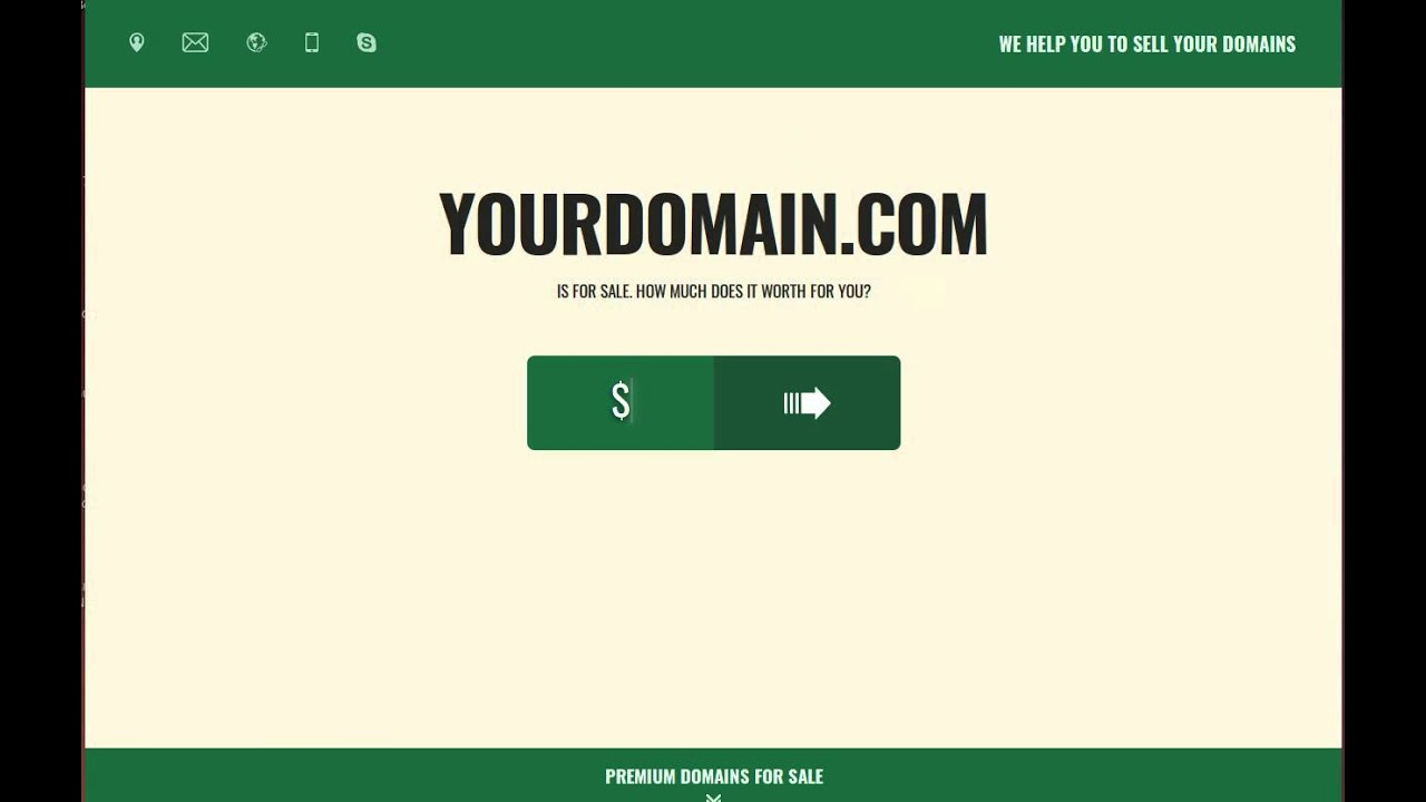 High conversional domain seller template - domain for sale page to ...