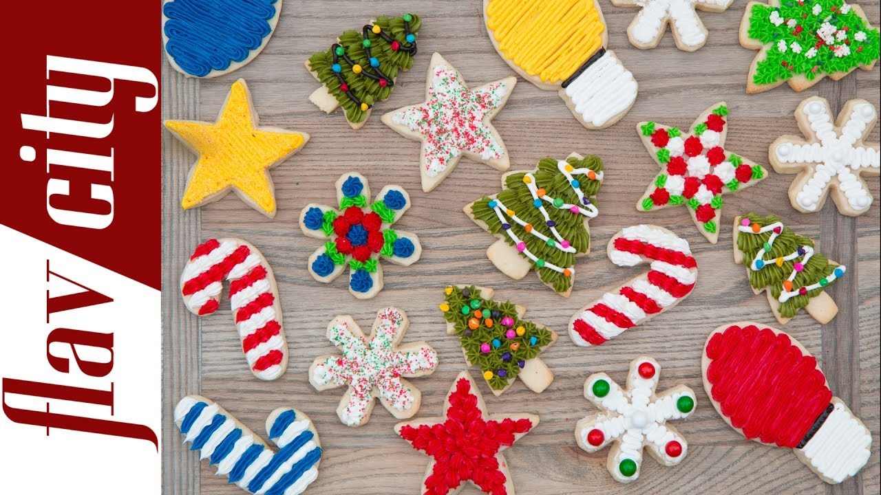 how to decorate christmas sugar cookies how to make christmas cookies youtube - Decorated Christmas Sugar Cookies