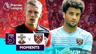 Southampton v West Ham | Top 5 Premier League Moments | Ward-Prowse, Anderson, Ings