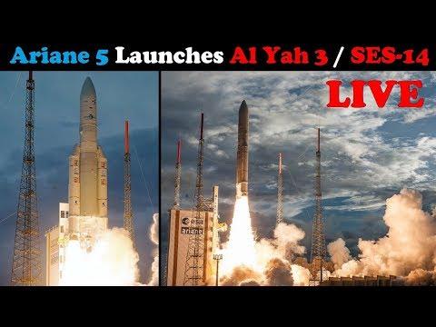 LIVE: Ariane 5 Rocket Launches SES-14 & Al Yah-3 Satellites (Flight VA241)