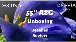OLED - SONY BRAVIA A8G 55 39 39 TV - DETAILED REVIEW in HINDI