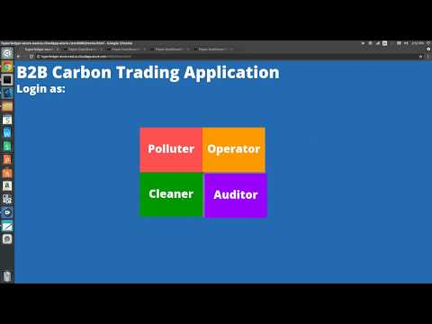 Carbon Trading using Blockchain: Cleaner Demo