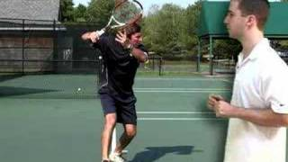 Tennis Lesson: Forehand Step 2 - Take Your Racket Back