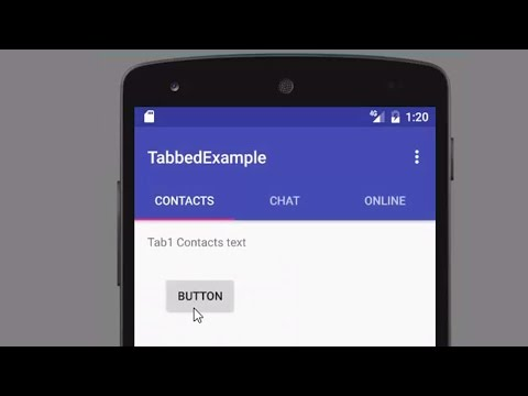 Creating Tabs in Android Studio with Tabbed Activity