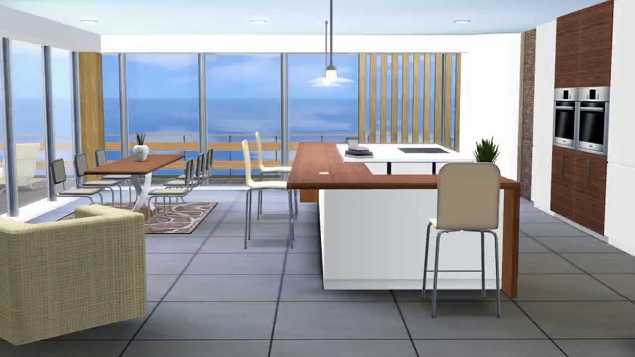 Kitchen moderno the sims 3 youtube for Sims 3 kitchen designs