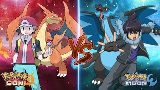 Pokemon Sun and Moon: Red Vs Alain (Mega Charizard Y Vs Mega Charizard X)