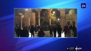 قوات الاحتلال تقتحم المسجد الأقصى وتعتدي على المصلين (24/1/2020)