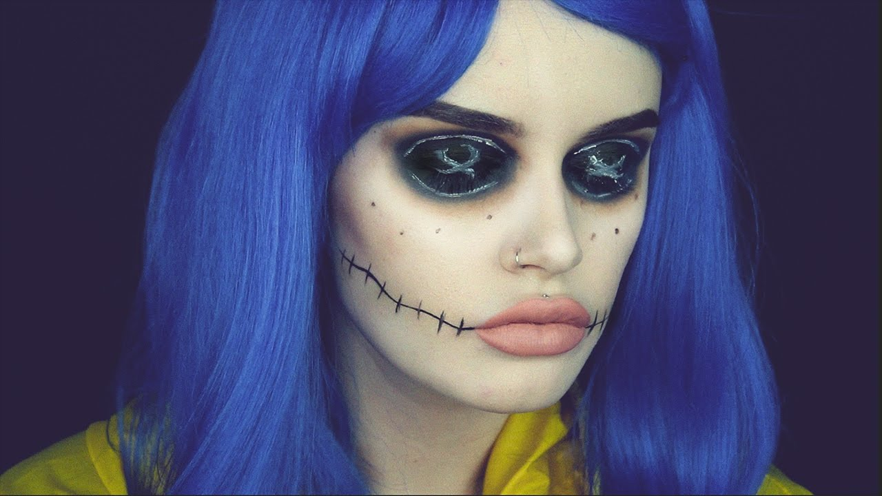 Coraline Doll Ashtoberfest Halloween Makeup Youtube