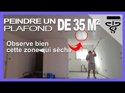 Bon ⏩Tuto Comment Peindre Un GRAND Plafond Comme Un Pro Et Sans Traces (35m²)💶 Conception Etonnante