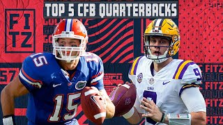 Top 5 College Football Quarterbacks We've Seen | Golic and Fitz