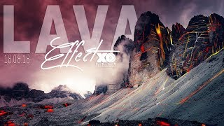 Lava Effect In Adobe Photoshop | Graphic Design | XOAD
