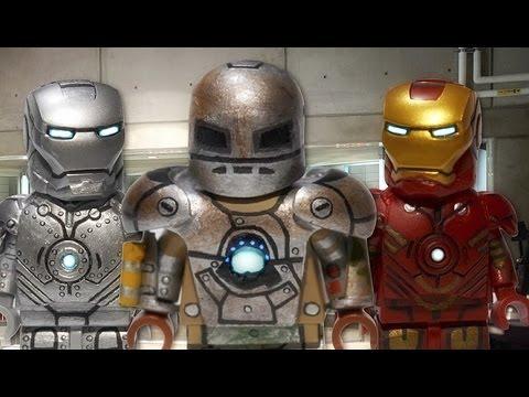 LEGO Marvel Iron Man Mark I Mark II Amp Mark IV