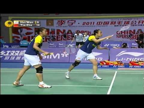 Round 16 - WD - Tian Q./Zhao Y. vs Hsieh P.C./Wang P.R. - Li Ning China Open 2011