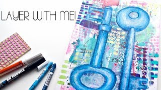 Easy Mixed Media Art Tutorial - Let's Make Some Art! - Keys