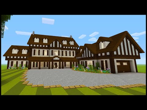 Minecraft: How To Build a Large Tudor Style House | PART 4 (Interior 1/2)