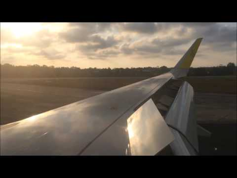 Royal Brunei Airbus A320 landing at Brunei Intl