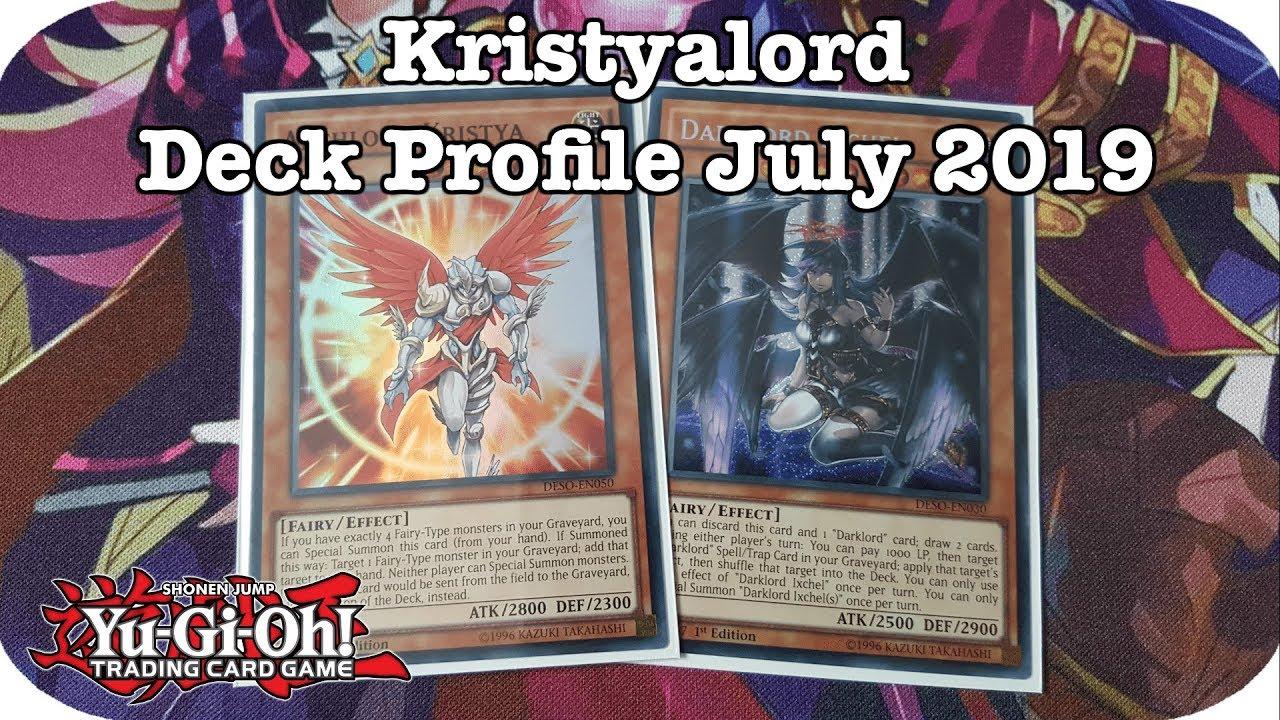 Yugioh: Kristya Darklord Deck Profile July 2019