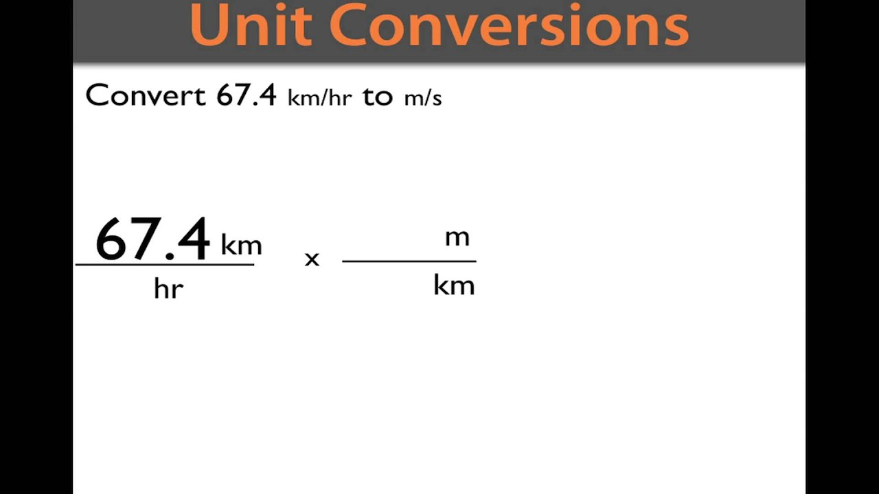How to convert km hr to m s youtube - Kilometers to miles per hour conversion table ...