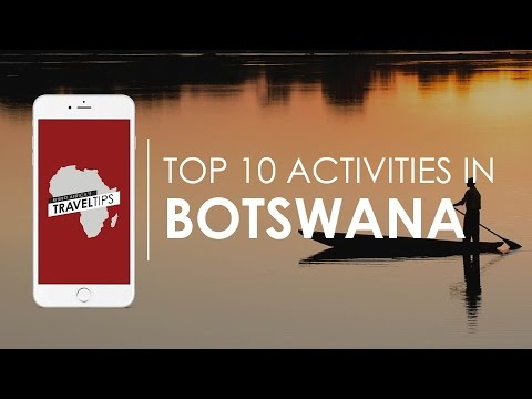 What are the top 10 activities in Botswana? Rhino Africa's T