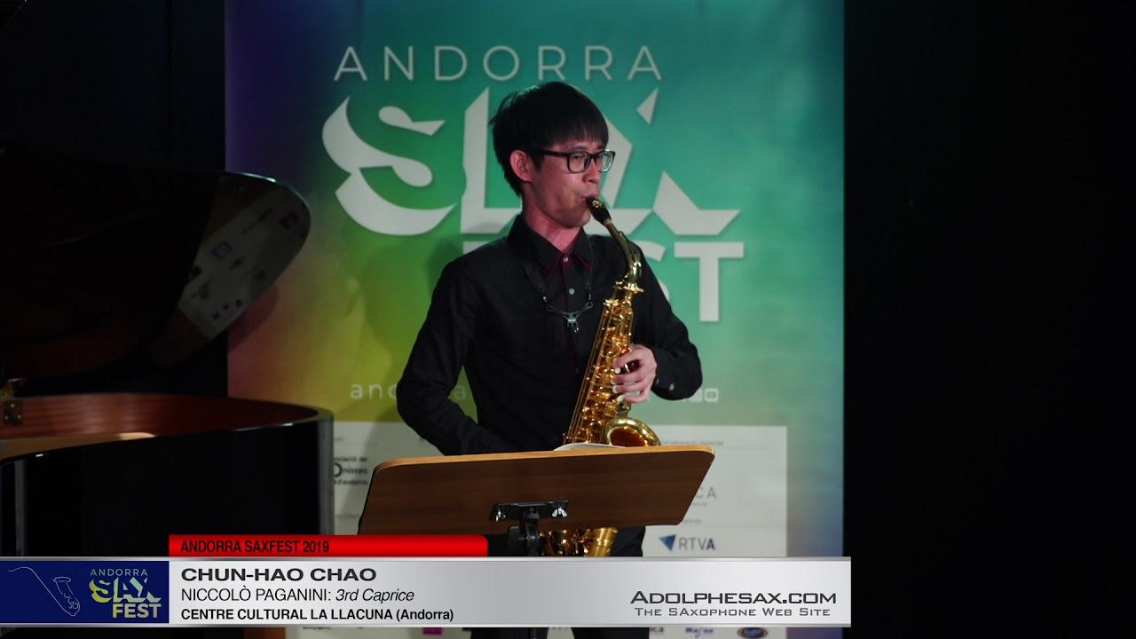 Andorra SaxFest 2019 1st Round   Chun Hao Chao   3rd Caprice by Niccolo Paganini