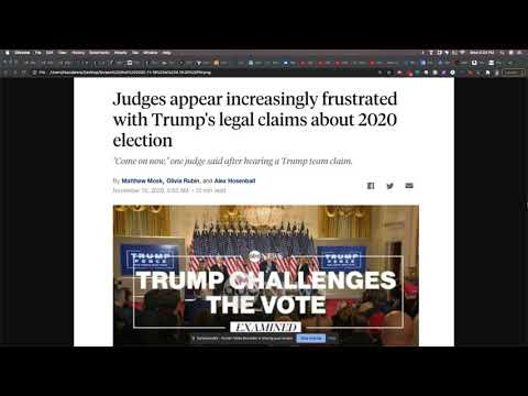 Judges Grow Frustrated With Trump's Legal Team