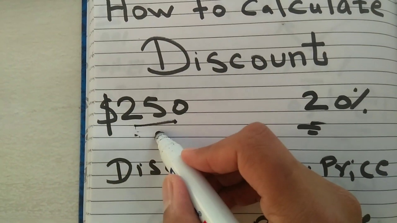 Download How to calculate discount with percentage