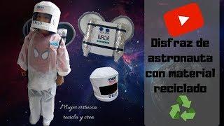 Disfraz de astronauta con material reciclado parte 2
