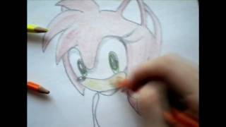 Me drawing and painting Amy from Sonic (HD)