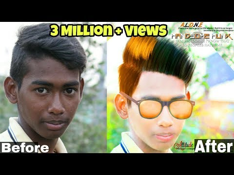 Clear Face And Straight Hair | How To Change Hairstyle And Face Colour By Picsart 2017 HD