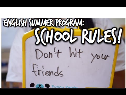 English Class Summer Program: School Rules Activity!