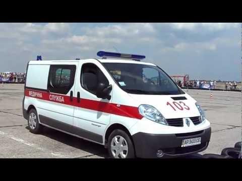 Авто слалом на скорой помощи
