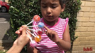 Funny Kids Learning ABC Song & Colors with New Lollipop Collection