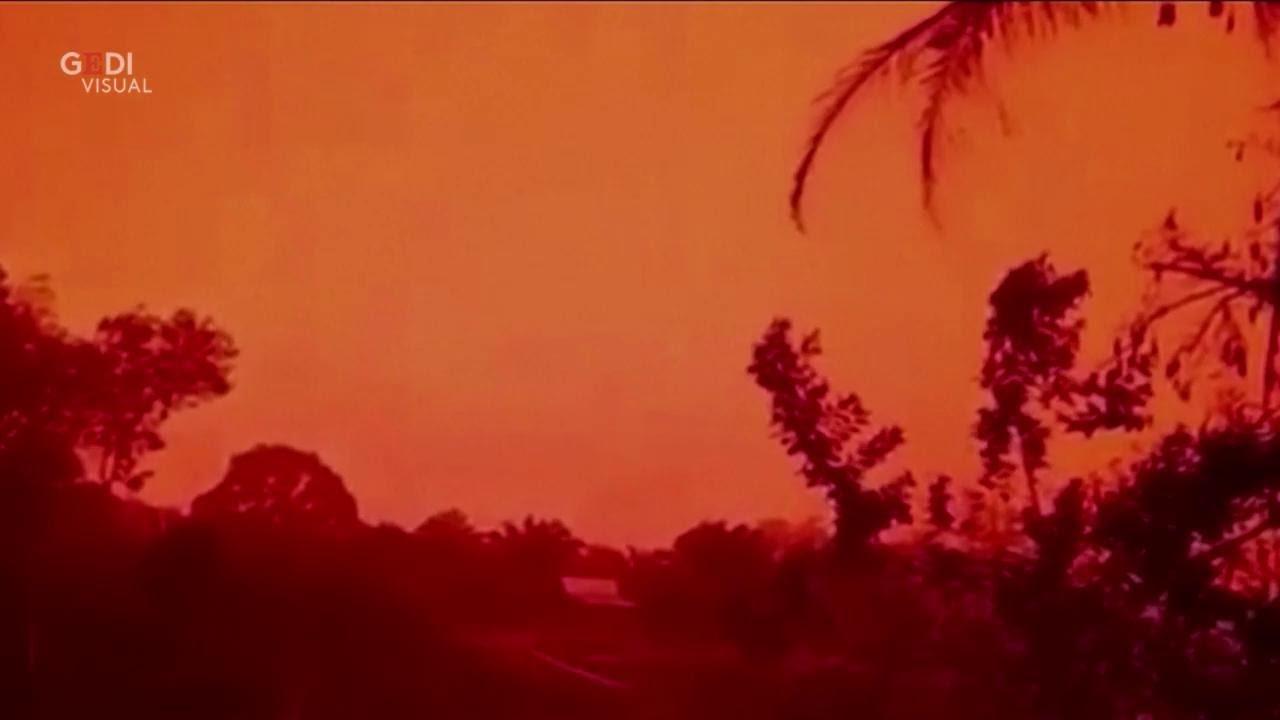 Indonesia come Marte, il cielo diventa rosso: colpa degli incendi