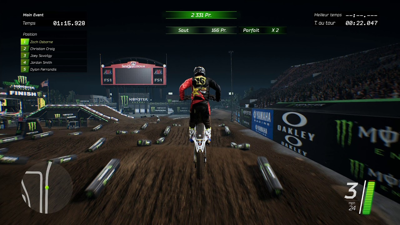 monster energy supercross ps4 pro gameplay youtube. Black Bedroom Furniture Sets. Home Design Ideas